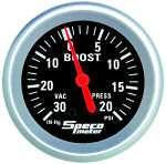 535-03 30 HG – mechanical 20 psi boost/vac gauge
